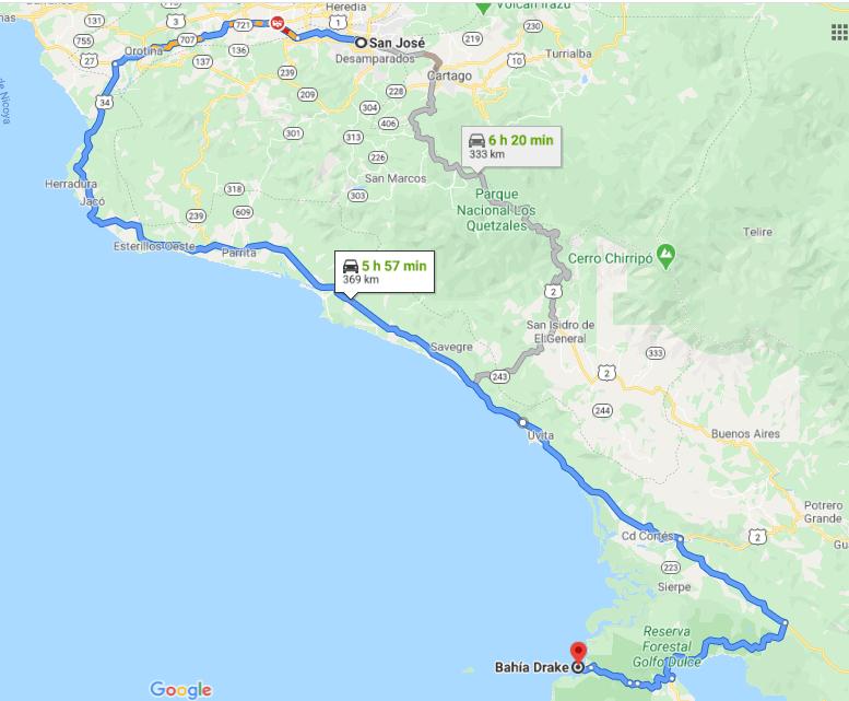 Cómo llegar a Bahía Drake, Costa Rica