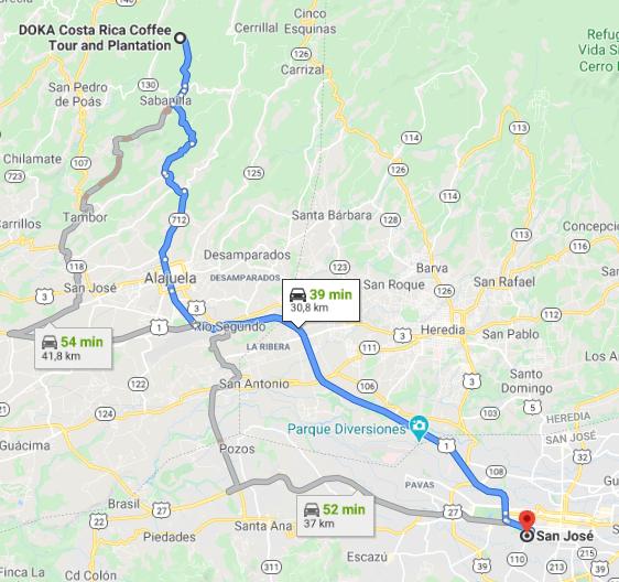 Como llegar a Doka Estate Coffe Tour