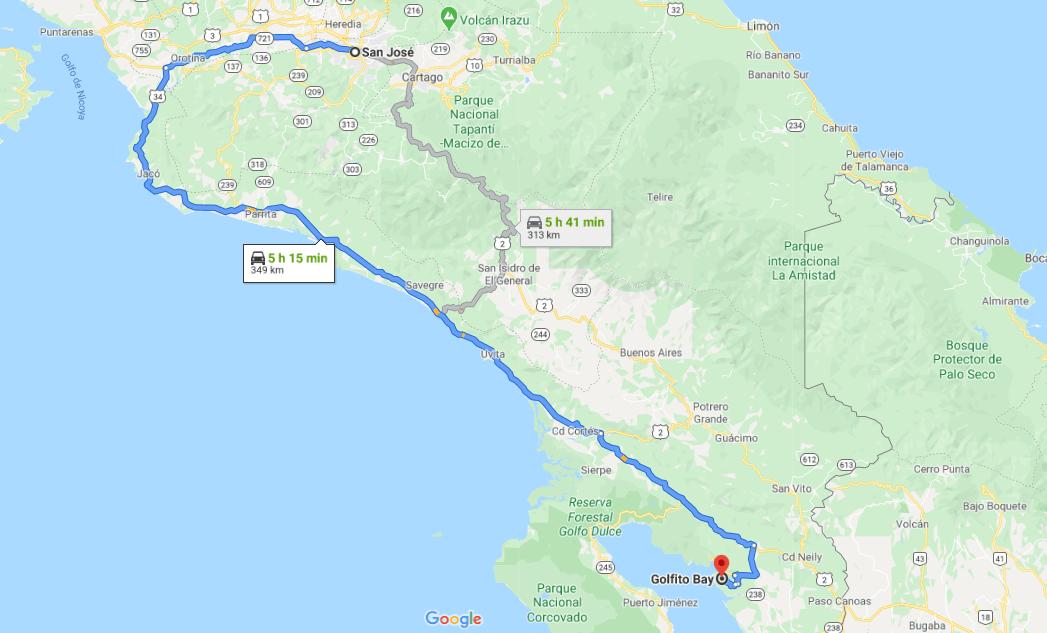 Cómo llegar a Golfito Bay, Costa Rica