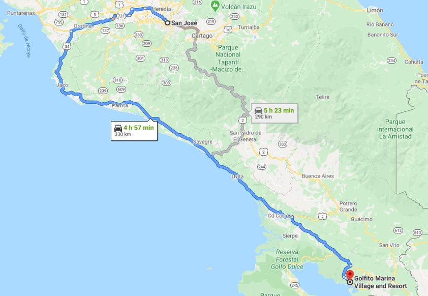 Cómo llegar a Golfito Marina Village and Resort, Costa Rica