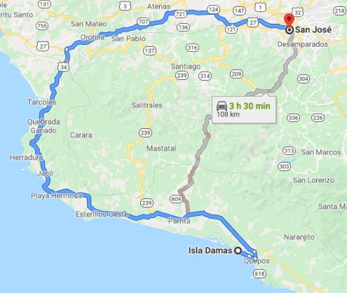 Como llegar a Isla Damas