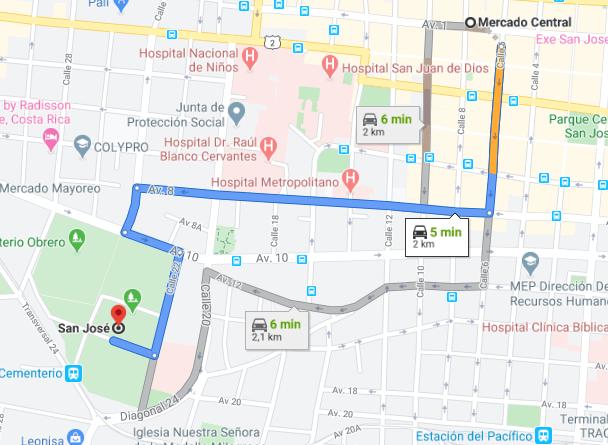 Como llegar a Mercado Central