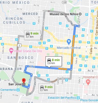Como llegar a Museo de los Niños Costa Rica