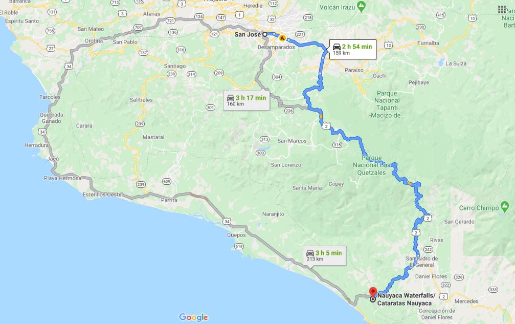Cómo llegar a Nauyaca Waterfalls- Cataratas Nauyaca, Costa Rica