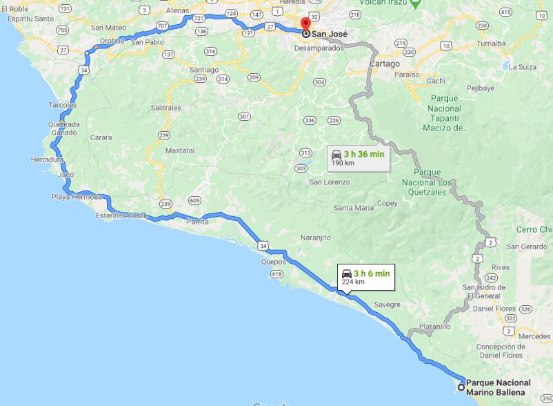 Como llegar a Parque Nacional Marino Ballena