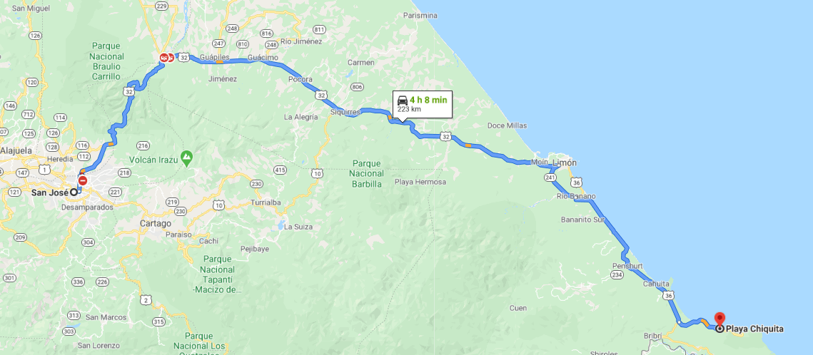 Como llegar a Playa Chiquita
