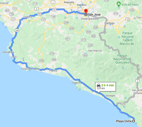 Como llegar a Playa Uvita