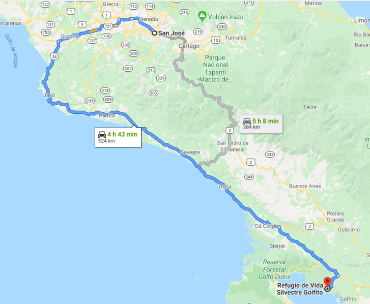 Cómo llegar a Refugio de Vida Silvestre Golfito, Costa Rica