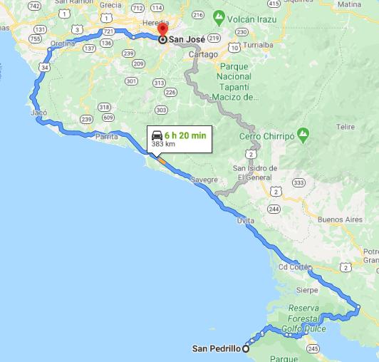 Como llegar a San Pedrillo Costa Rica