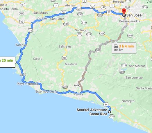 Como llegar a Snorkel Adventure Costa Rica
