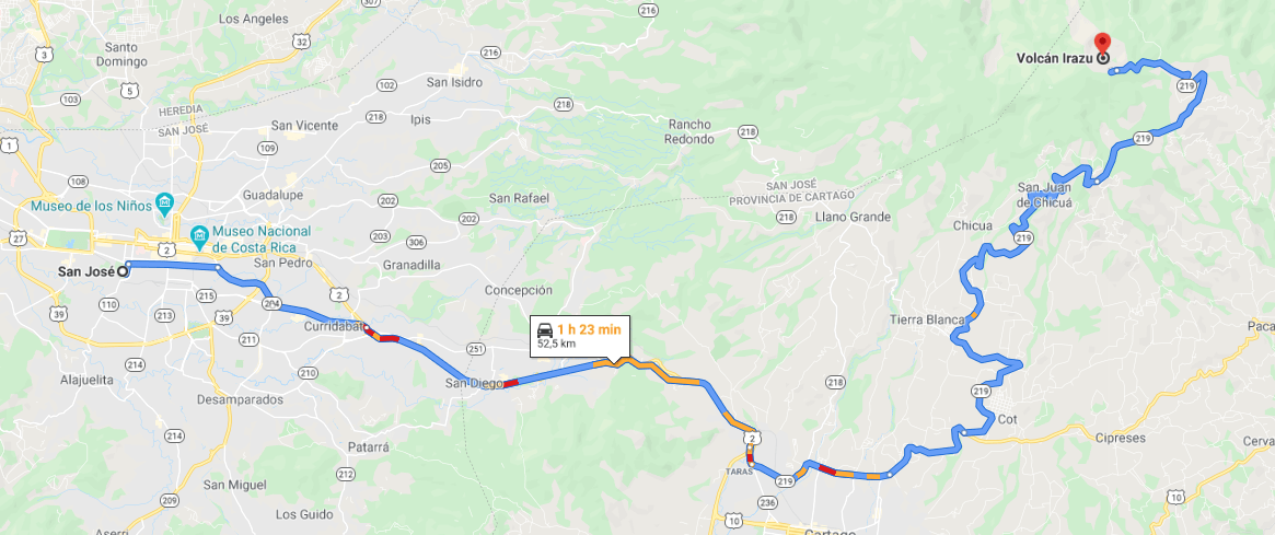 Cómo llegar a Volcán Irazú